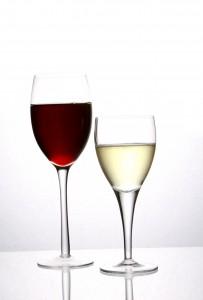 weiß und rotwein